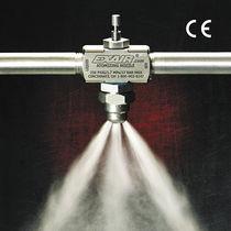 Buse de pulvérisation / plate / pour liquide / à mélange interne