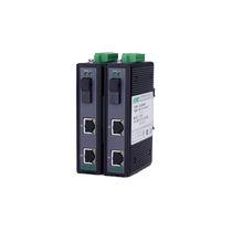 Émetteur-récepteur pour fibre optique / Gigabit Ethernet / sur rail DIN / pour réseau de télécommunication