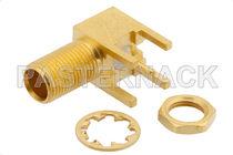 Connecteur PCB / coaxial / MCX / à angle droit