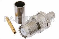Connecteur UHF / de carte électronique / coaxial / cylindrique