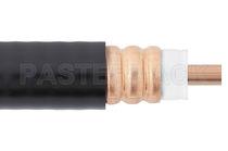 Câble optique RF / isolé / flexible / annelé