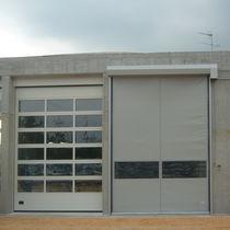 Portes autoréparables / à enroulement / industrielles / pour l'extérieur