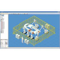 Logiciel de simulation / d'application robotique / 3D / hors-ligne
