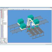 Logiciel de palettisation / de robot / 3D