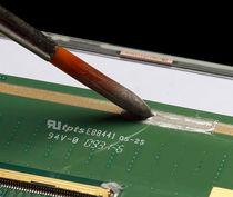 Colle caoutchouc / monocomposant / haute température / électroconductrice