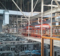 Convoyeur aérien / horizontal / de transport / pour application de process