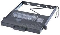 Clavier monté sur rack-tiroir / encastrable / 106 touches / avec pavé tactile