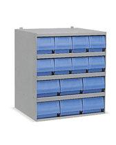 Rayonnage d'atelier / pour charges légères / pour bacs / compact