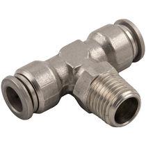 Raccord push-in / en T / pour air comprimé / en acier inoxydable