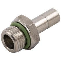Raccord push-in / droit / pour air comprimé / en acier inoxydable