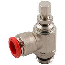 Raccord régleur de débit / à visser / coudé / pour air comprimé