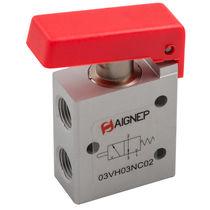 Distributeur pneumatique à clapet / avec actionnement manuel / 5/2 voies / 3/2 voies