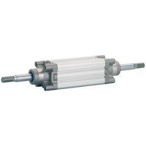 Vérin à piston magnétique / à tige traversante / double effet / à amortissement réglable