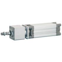 Vérin à piston magnétique / double effet / avec blocage du piston / à amortissement réglable