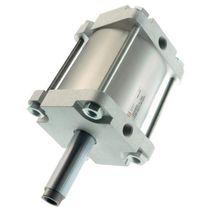 Vérin à piston magnétique / à tige traversante / à double effet / compact