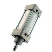 Vérin à piston magnétique / double effet / à amortissement réglable / en aluminium anodisé