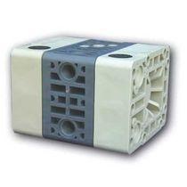 Mini-pompe à double membrane / pour fluide agressif / pneumatique
