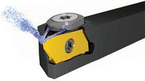 Outil de tournage extérieure / à plaquettes / avec fluide de refroidissement interne / pour tour de décolletage