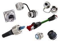 Connecteur d'alimentation électrique / fibre optique / RJ45 / IP67