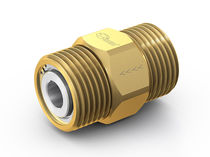 Clapet anti-retour à bille / fileté / pour gaz / en laiton