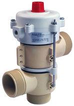 Vanne pour eau chaude / en acier inoxydable / en plastique / actionnée pneumatiquement