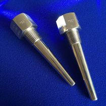 Doigt de gant à bride / fileté / en acier inoxydable / pour capteur de température