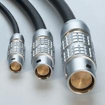 Connecteur de données / coaxial / cylindrique / multipolaire