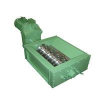 Déchiqueteur à 1 arbre / de déchets solides et en vrac / métal