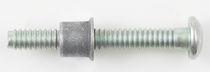 Boulon de serrage / à tête bombée / en acier / à large prise