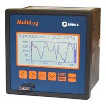 Enregistreur sans papier / encastrable / avec afficheur graphique LCD / 1-8 entrées