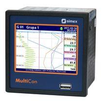 Enregistreur de données universel / ethernet / à écran tactile / programmable