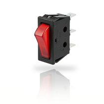 Interrupteur à bascule / unipolaire / à 3 positions / en polycarbonate
