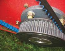 Courroie de transmission synchrone / en polyuréthane / pour convoyeur à rouleaux / résistante à l'huile