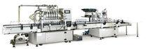 Remplisseuse boucheuse linéaire / centrifuge / pour produits laitiers / de boisson