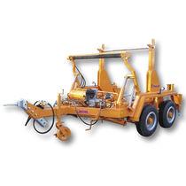 Remorque tandem / pour transport et pose de câbles / porte tourets / hydraulique