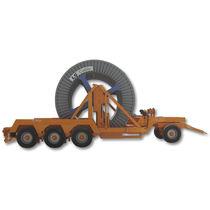 Remorque à 3 essieux / à 4 essieux / à 5 essieux / pour transport et pose de câbles