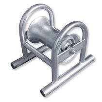 Rouleau pose câble avec rouleau en aluminium