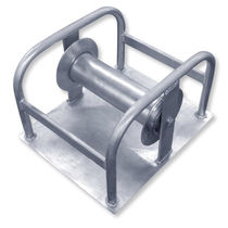 Rouleau pose câble avec plaque de base / avec rouleau en acier