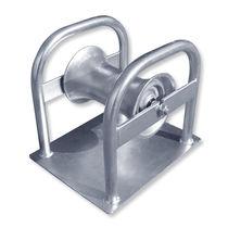 Rouleau pose câble avec plaque de base / avec rouleau en aluminium