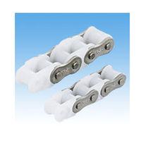 Chaîne de transmission de puissance / en plastique / à rouleaux / résistante à la corrosion