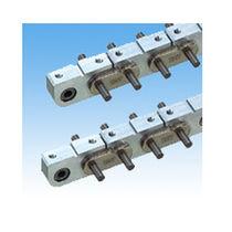 Chaîne de convoyage en aluminium / de petite taille / à maillons monoblocs / à roulement à aiguilles