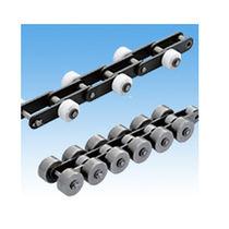 Chaîne de convoyage en acier / à rouleaux / de petite taille / avec galets de glissement