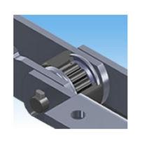 Chaîne de convoyage en acier inoxydable / à rouleaux / de grandes dimensions / avec galets de glissement