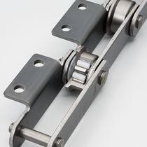 Chaîne de convoyage en acier inoxydable / à rouleaux / à roulement à rouleaux sans lubrifiant / sans lubrifiant