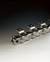 Chaîne de transmission de puissance / en inox / à rouleaux / à double pas