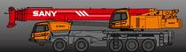 Camion grue / à 5 essieux