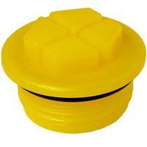 Bouchon hexagonal / fileté / en thermoplastique / avec joint