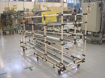 Chariot de manutention / en métal / à étagères / pour produits fragiles