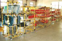 Rayonnage entrepôt de stockage / pour charges légères / dynamique