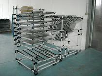 Chariot de manutention / en métal / à étagères / polyvalent